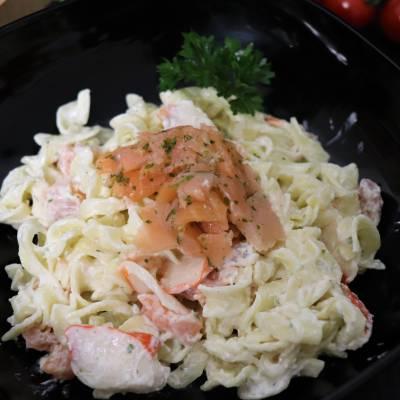 Salade Norvégienne au saumon fumé