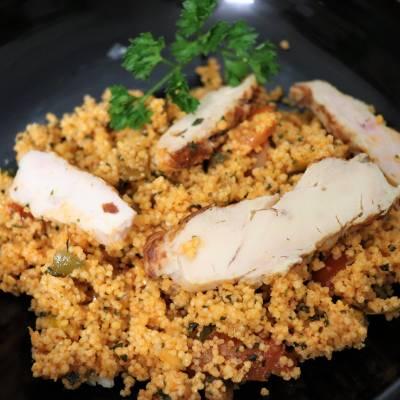 Taboulé marocain aux poulet grillé