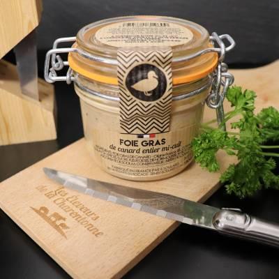 Foie gras de canard mi cuit terrine 180g