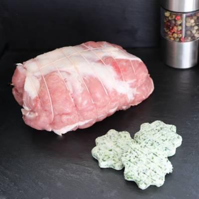 Rôti d'épaule d'agneau** au beurre persillé