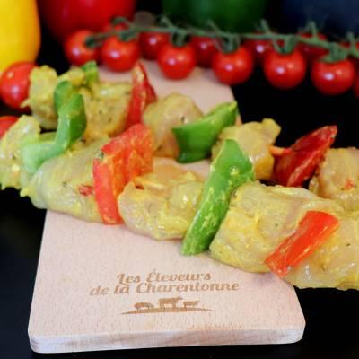 Brochette de poulet au curry x2